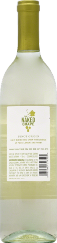 The Naked Grape Pinot Grigio White Wine 750ml Perspective: back