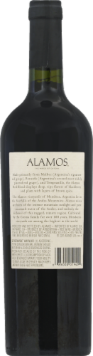 Alamos Wine Red Blend Perspective: back