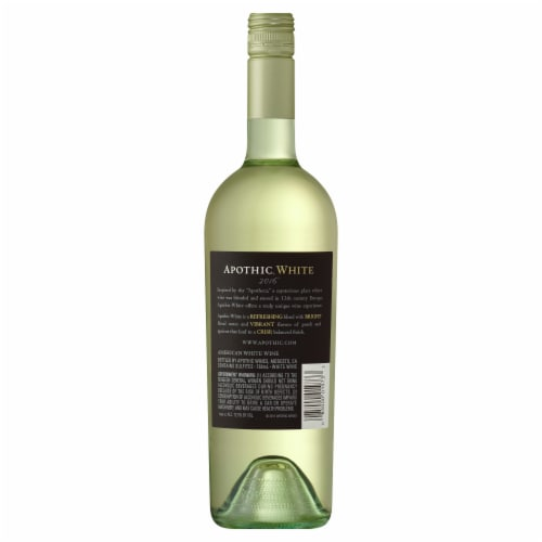 Apothic White Blend White Wine 750ml Perspective: back