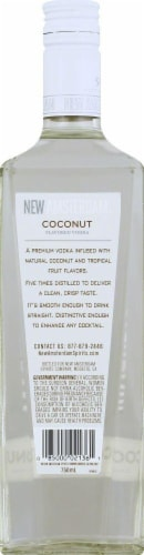 New Amsterdam Coconut Flavored Vodka Perspective: back