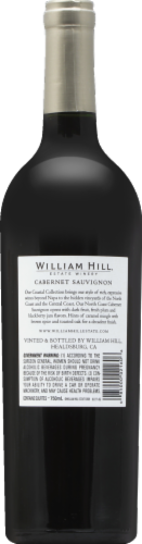 William Hill Estate North Coast Cabernet Sauvignon Red Wine 750ml Perspective: back