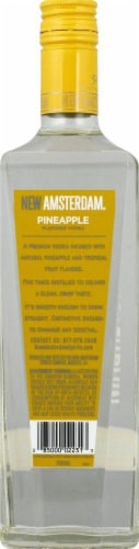 New Amsterdam Pineapple Flavored Vodka Perspective: back