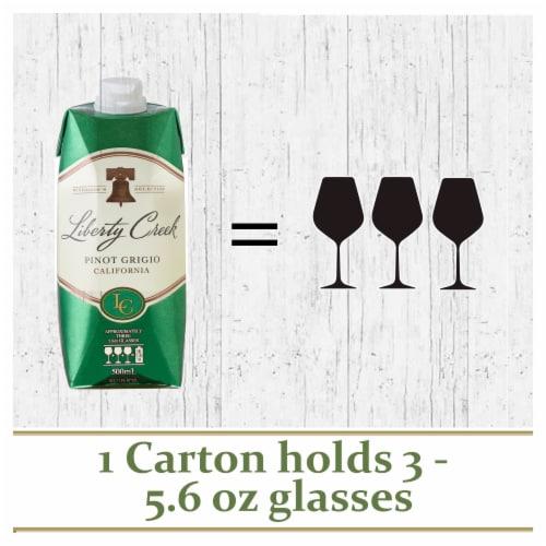 Liberty Creek Vineyards Pinot Grigio White Wine Tetra 500ml Perspective: back