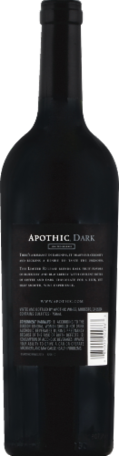 Apothic Dark Red Blend Red Wine 750ml Perspective: back