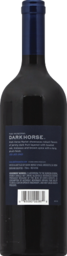 Dark Horse Merlot Red Wine Perspective: back