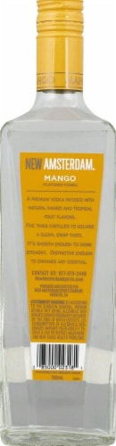 New Amsterdam Mango Flavored Vodka 750ml Perspective: back