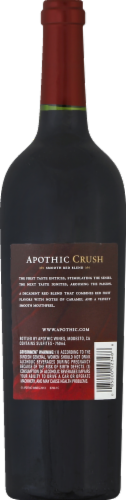 Apothic Crush Red Blend Red Wine 750ml Perspective: back