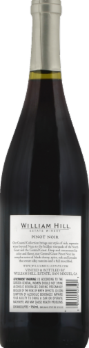 William Hill Estate Central Coast Pinot Noir Red Wine 750ml Perspective: back