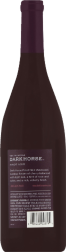 Dark Horse Pinot Noir Red Wine Perspective: back