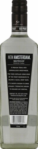 New Amsterdam 100 Proof Vodka Perspective: back