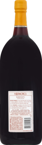 Barefoot Cellars Sangria Red Wine 1.5L Perspective: back