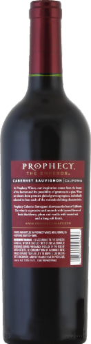Prophecy Cabernet Sauvignon Red Wine Perspective: back