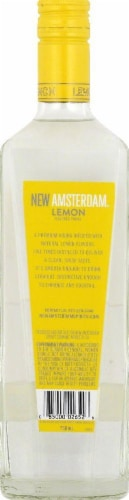 New Amsterdam Lemon Flavored Vodka 750ml Perspective: back