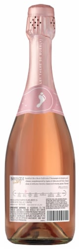 Barefoot Bubbly Brut Rose Champagne Sparkling Wine 750ml Perspective: back