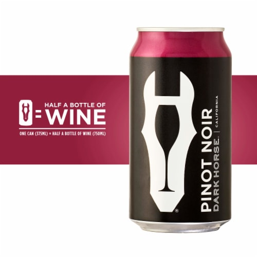 Dark Horse Pinot Noir Red Wine Can Perspective: back