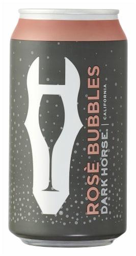Dark Horse Sparkling Brut Rose Wine Can Perspective: back
