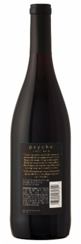 Psyche Pinot Noir Red Wine Perspective: back