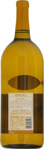 Barefoot Buttery Chardonnay White Wine Perspective: back