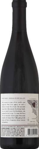 MacMurray Estate Russian River Valley Pinot Noir Red Wine 750ml Perspective: back