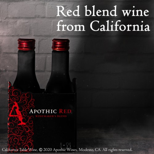 Apothic Red Blend Red Wine 2 pack of 250ml Aluminum Bottles Perspective: back