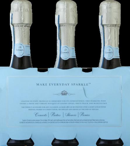 La Marca Prosecco Sparkling Wine 3 Single Serve 187ml Bottles Perspective: back