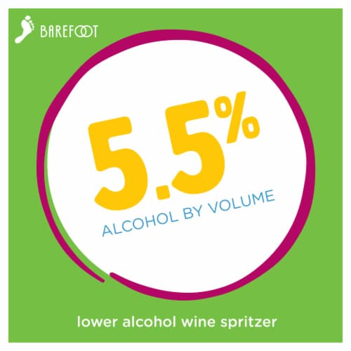Barefoot Spritzer Crisp White Wine Perspective: back