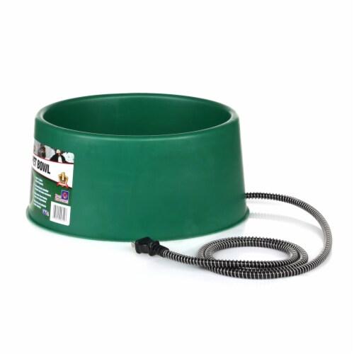 Farm Innovators P-60 1.5 Gallon Electric Heated Pet Water Bowl, 60 Watt, Green Perspective: back