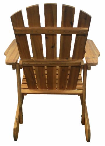 Leigh Country Adirondack Chair - Natural Stain Perspective: back