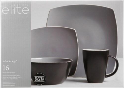 Gibson Home Soho Lounge Matte Dinnerware Set Perspective: back