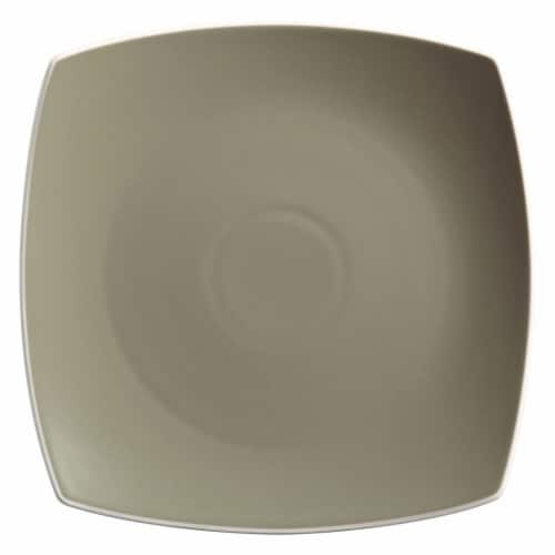 Gibson Elite 16 Piece Square Matte Dinnerware Set with Plates, Bowls, and Mugs Perspective: back