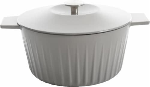 Martha Stewart Round Casserole Dish - Gray Perspective: back