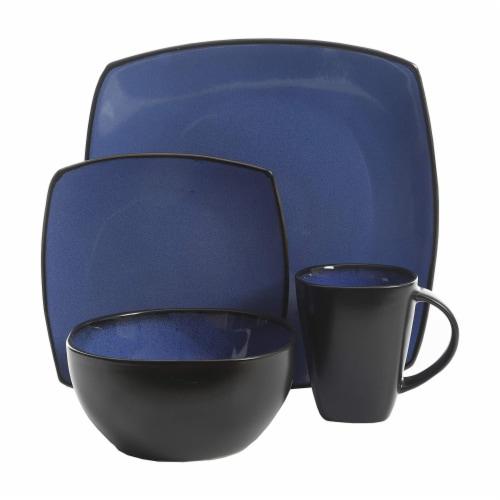 Gibson Elite Soho Lounge 16 Piece Plates, Bowls, & Mugs Dinnerware Set, Blue Perspective: back