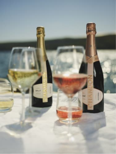 Chandon California Rose Sparkling Wine Perspective: back