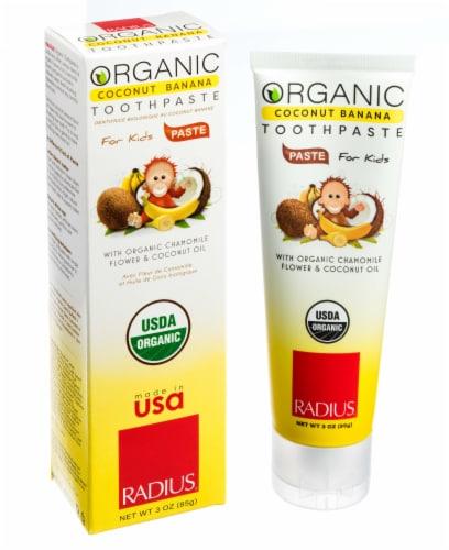 Radius Organic Coconut Banana Children's Toothpaste Perspective: back