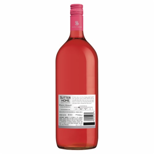Sutter Home® White Merlot Blush Wine Perspective: back