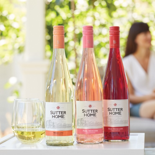 Sutter Home Pink Moscato Wine Perspective: back