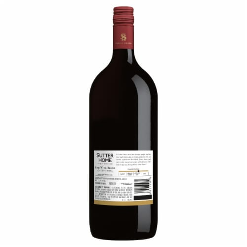 Sutter Home Red Blend Wine Perspective: back