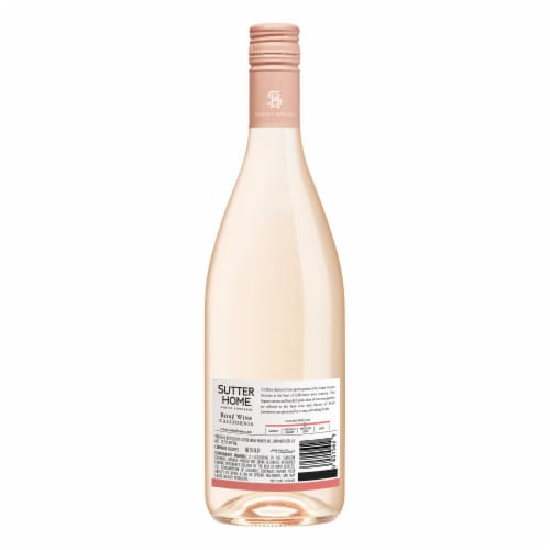 Sutter Home Rose Wine Perspective: back