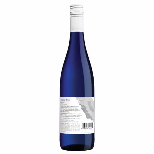 SEAGLASS Riesling White Wine 750mL Wine Bottle Perspective: back