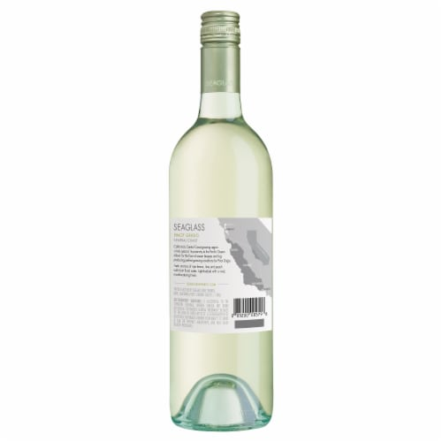 SeaGlass Pinot Grigio White Wine Perspective: back