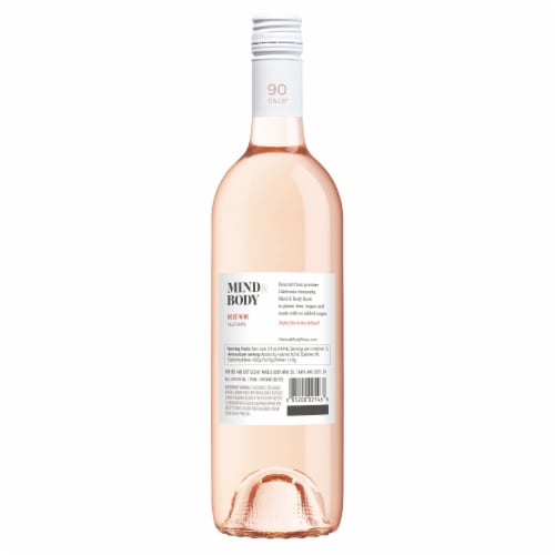 Mind & Body Low Calorie Rose Wine Perspective: back