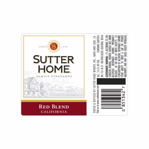 Sutter Home® Red Blend Red Wine Perspective: back