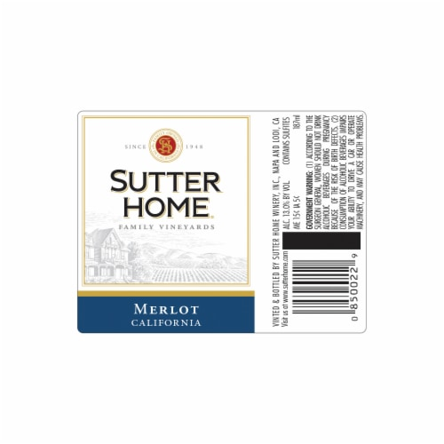 Sutter Home® Merlot Red Wine Perspective: back