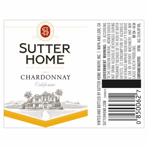 Sutter Home Chardonnay Perspective: back