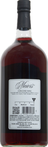 Meier's Concord Wine Perspective: back