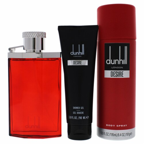 Desire Red London by Alfred Dunhill for Men - 3 Pc Gift Set EDT Spray, Shower Gel, Body Spray Perspective: back