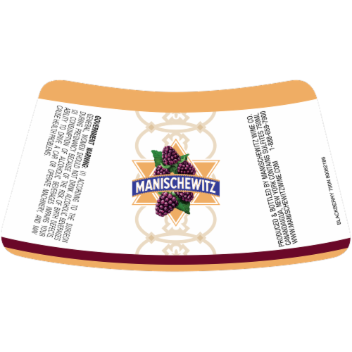 Manischewitz Blackberry Wine Perspective: back