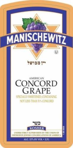 Manischewitz Concord Grape Fruit Wine Perspective: back