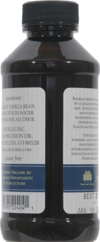 Rodelle Organic Pure Vanilla Extract Perspective: back
