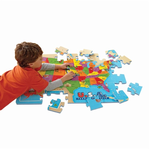 Educational Insights USA Foam Map Puzzle Perspective: back